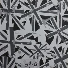 Vários padrões impressos PVC sintético sofá de couro (HS039 #)
