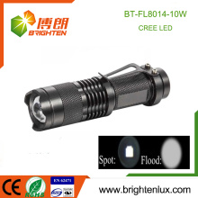 Hot Sale Tactical Usage Pocket Aluminium High Bright XML T6 10W Puissant Rechargeable 18650 Head Zooming OEM Cree lampe de poche led