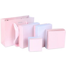 Caixas de embalagem de brinco para presente com esponja branca dentro