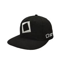 China factory OEM ODM flat bill 5 panel cotton custom logo Embroidered mens sports cap black snapback hat