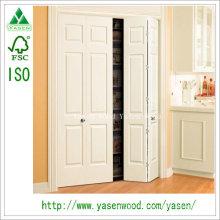 Porte en bois à double battant, entrée principale, blanc