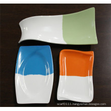 Double Color Imitation Ceramic Melamine Tableware Dishes (CP-055)