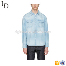 Blue Denim Social denim tee t shirts blue men long sleeve shirts