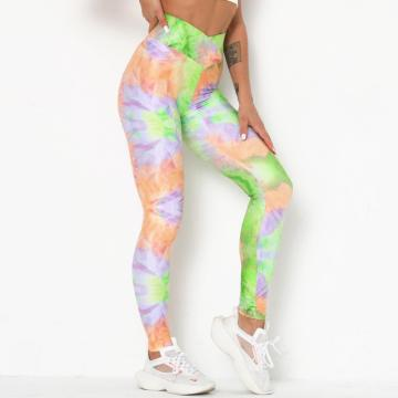 Yoga Tie Dye Leggings in voller Länge