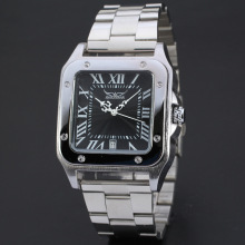 OEM / ODM Stainless Steel Square tay bạc Watch