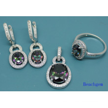 Fashion Jewellery Set with Mystic Cubic Zirconia (S3309)