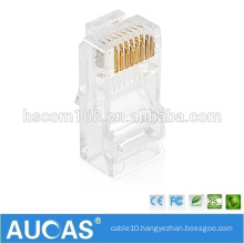 RJ45 8P8C gold-plated unshielded cat5e connector/systimax keystone jack modular plug