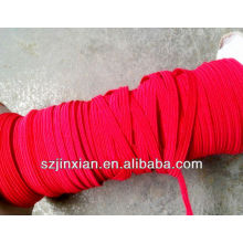 0.8-12mm rote Ployester flache elastische Bungee-Schnur