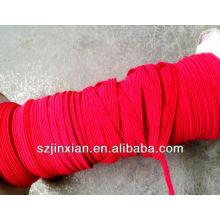 Cordão de bungee elástico plano de 0.8-12mm vermelho ployester