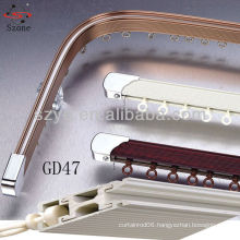 GD47 flexible curtain track to fix ceiling for hospital room