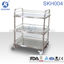 SKH007-3 Medical Instrument Stainless Steel Nursing Treatment Trolley Equipment