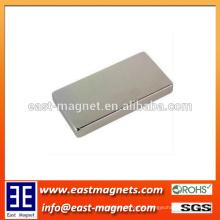 Starker dauerhafter Nickelblock gesinterter Neodym-Magnet / kundenspezifischer Kartenform ndfeb Magnet für Verkauf