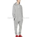 Graue runde untere billige Mann Hoody Frühling Gymwear Großhandel in China