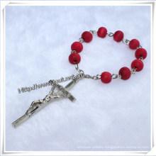 Finger Rosary / Beads Finger Rosary / Wooden Bead Finger Rosary (IO-CE010)