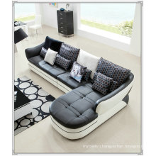 Black Color Sofa, Modern Leather Sofa, Home Furniture Sofa (M303)