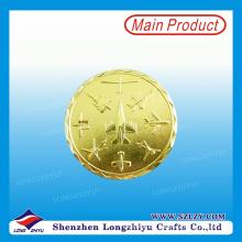 Moneda conmemorativa de cobre amarillo del diseño moderno del proveedor de China