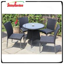 Shinygarden ocio mesa de comedor de mimbre de mimbre hermosa mesa y silla
