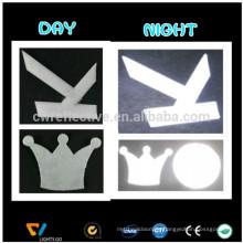 high light Reflective safety jackets patch OEM clothing reflective PU leather badge