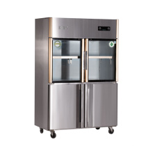 Four Doors Double Temperature Kitchen Refrigerator