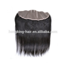 100% human hair virgin unprocessed cheap lace front closure 13*4