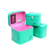 PU Lady Bag Green Set 3 PCS de alta qualidade à prova d'água