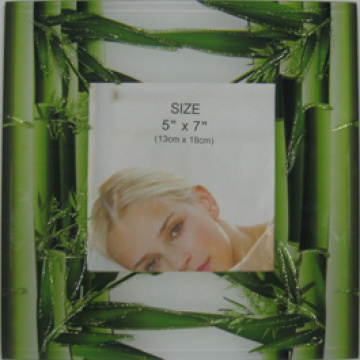 Green Printing Style Photo Frame