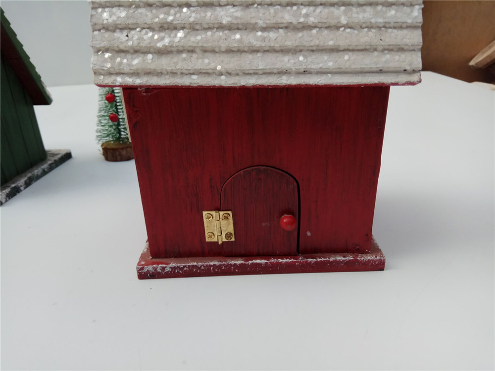 small villa style wooden bird house