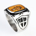 Fashion custom Party Enamel Skull Ring