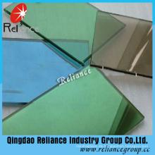 Dunkelgrünes reflektierendes Einwegglas mit einer Stärke von 4-6mm
