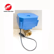 Válvula de agua del motor eléctrico CR01 12V DN15 latón CWX-60P 6nm