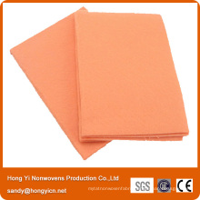 Super Soft Orange Nonwoven Fabric Cleaning Cloth