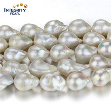 Wholesale Freshwater Pearl Strand Big Size 15mm Nucleated Loose Pearl Strand String