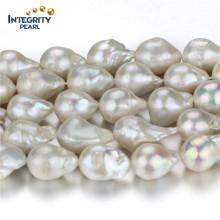 Vente en gros de perles d'eau douce Strand Large taille 15mm Diamated Loose Pearl Strand String