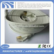 30FT / 10M CAT 7a Réseau Ethernet 600MHz LAN FLAT Gold Cable