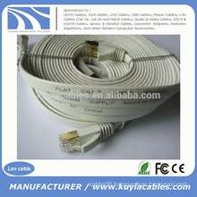 30FT/10M CAT 7a Ethernet Network 600MHz LAN FLAT Gold Cable