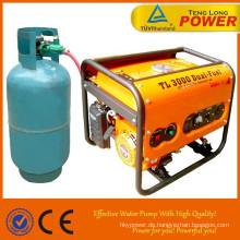 3 kw-super Power-Taste starten Sie dual-Fuel-Generator im heißen Verkauf