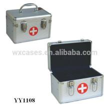 caixa de primeiros socorros de alumínio de tamanhos pequenos com bandeja dentro de Foshan China