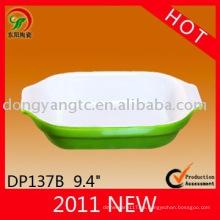 plato gratinado de cerámica, platos rectangulares para hornear, gres panadero