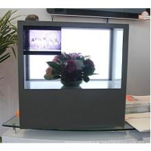 46 '' Drei Seiten Transparent Video Showcase