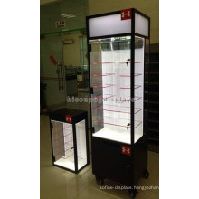 Custom Logo Eyewear Store Freestanding Acrylic Shelving Movable Top Led Lighting Sunglass Display Case