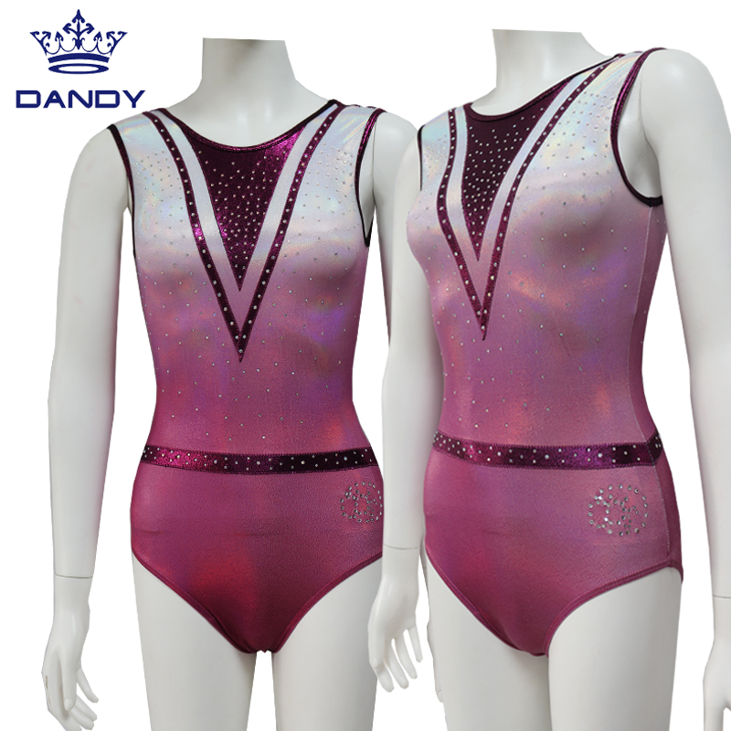 rainbow leotard gymnastics