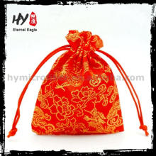 Easy to wash small pouch, silk jewelry pouch, jewellery gift bag