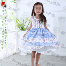 toddler girls ruffle checked dress