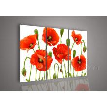 Handgemachtes Segeltuch-Kunst-Blumen-Ölgemälde auf Segeltuch für Hauptdekor (FL3-139)