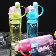 Custom Logo Eco-friendly Large plastic 600-800ml Sports Water Bottle With Straw