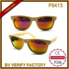 F6413 Дешевые солнцезащитные очки с узором дерева (имеющиеся образцы)