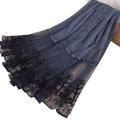 TINGYU Supplier Wholesale Plain Color Cotton Lace Muslim Hijab