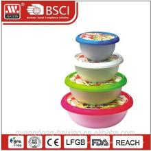 Round Food Container(4pcs 1L-5L)