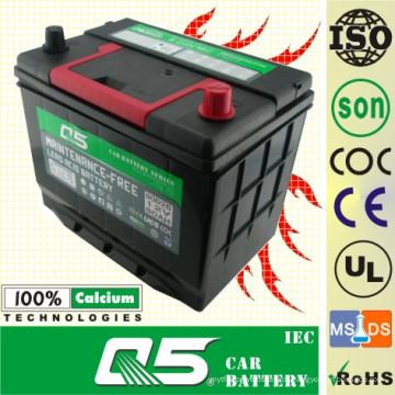 JIS-90D26 12V72AH wartungsfreie Autobatterie