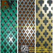 Maille métallique perforée enduite de PVC pour l'architecture